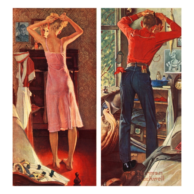 norman-rockwell-before-the-date-september-24-1949